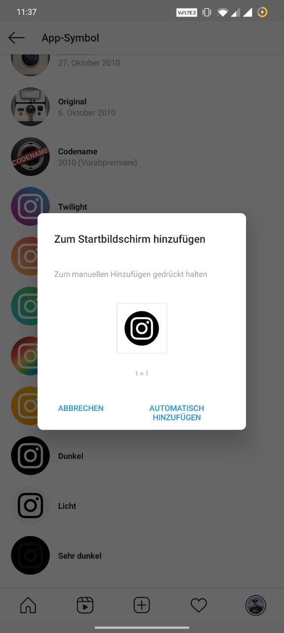 Instagram App Icon ändern Anleitung