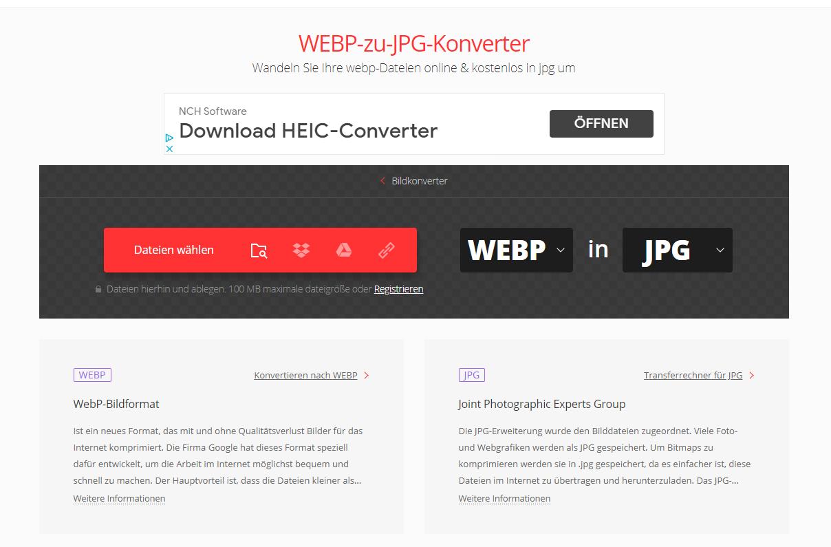 webp zu jpg konverter