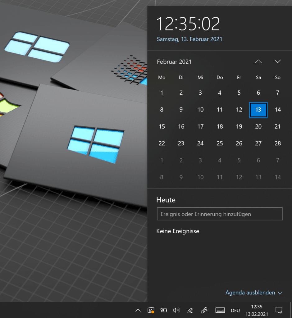 Windows 10 Guide Kalender