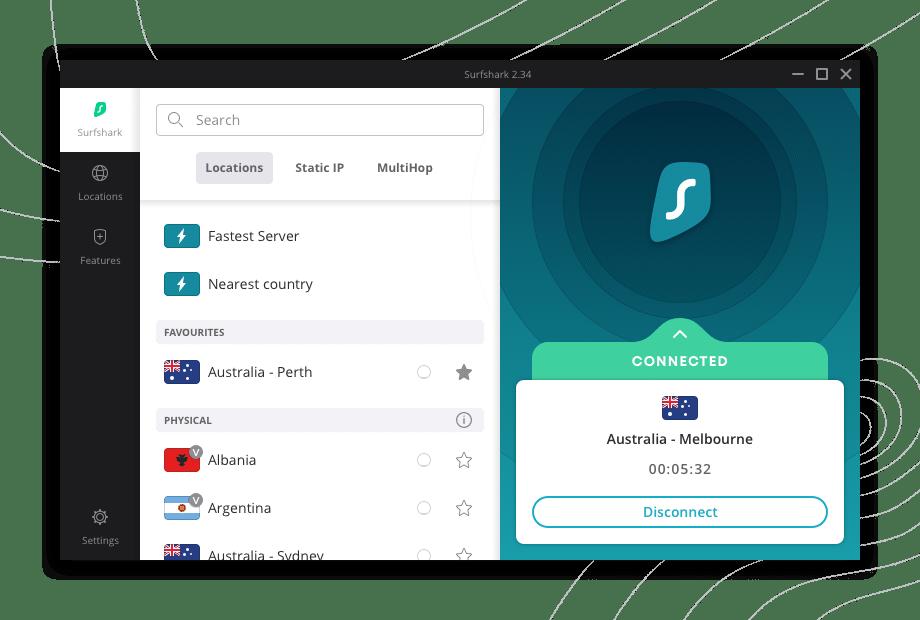 Surfshark Windows App