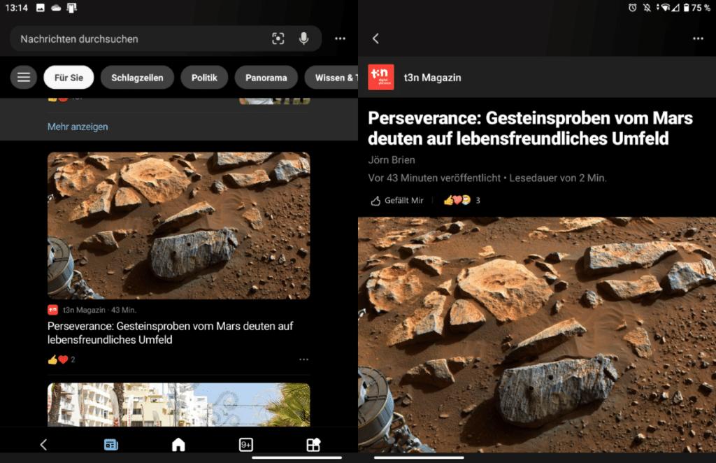 Surface Duo News App 2